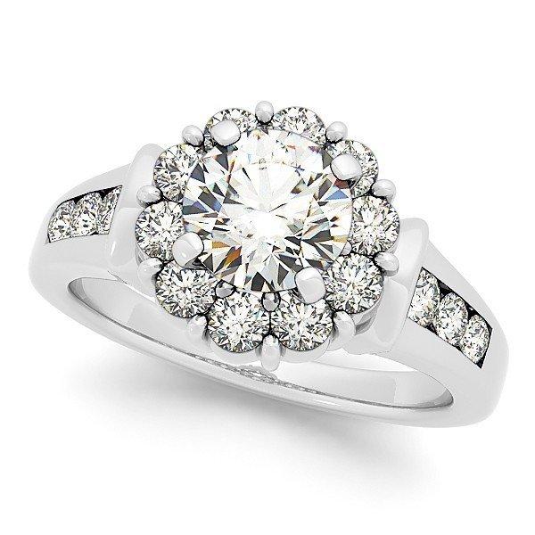14K Gold 3.24 ctw Round Diamond Ring.  Brand New!   Fea