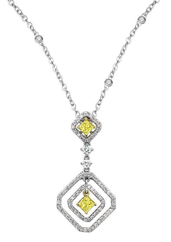 18KT  TWO TONE GOLD WOMEN'S 1.02 DIAMOND MITALI.  Featu