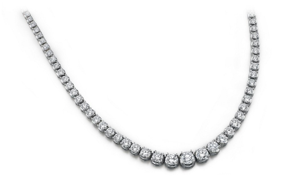 14KT Gold 16 ct Diamond Neckless Featuring 28.4 Grams o