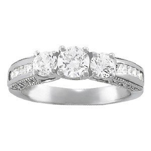 14K Gold 4.74 ctw Round Diamond Ring.  Brand New!   Fea