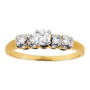 14K Gold 2.35 ctw Round Diamond Ring.  Brand New!   Fea