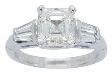 This extremely rare ring features a large GIA certified