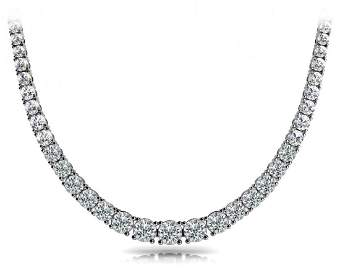 14KT Gold 14 ct Diamond Neckless Featuring 28 Grams of