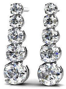 14KT Gold 1.5 ct Diamond Earrings   Featuring 3.1 Grams