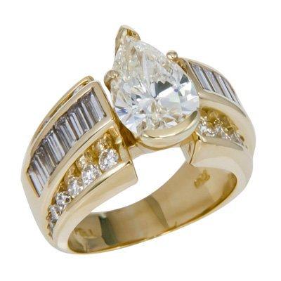18KYG P/S & BAG/ROUND DIAMOND RING 15.1 GRAMS