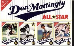 2057 1989 Nabisco Baseball Uncut Don Mattingly Card Sh Feb 18