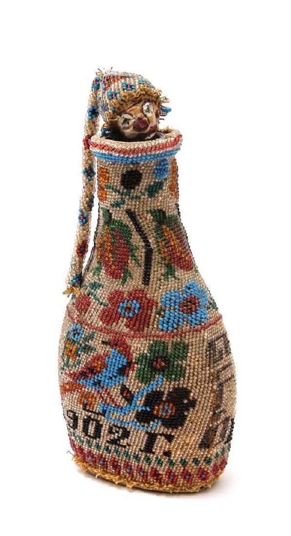 Handsome, fancy wine bottle for Purim. Russia, 1902.