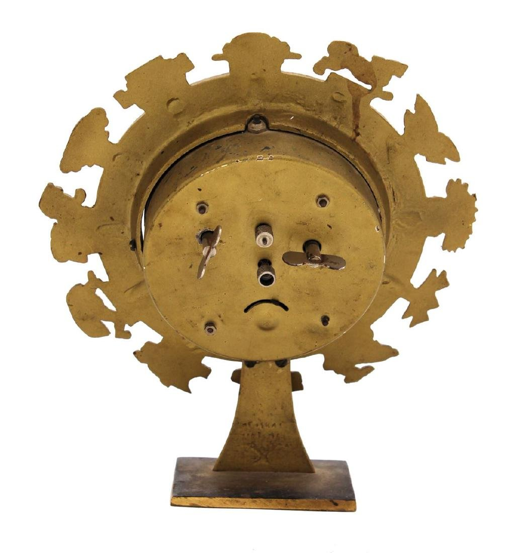 Clock with Hebrew letters. Israel 1960s. - 4