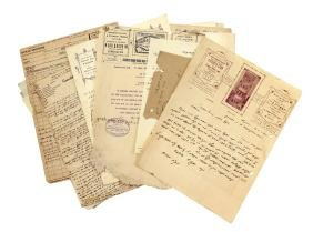 "Lot of documents from the ""Tiferet Zion"" hospice for"
