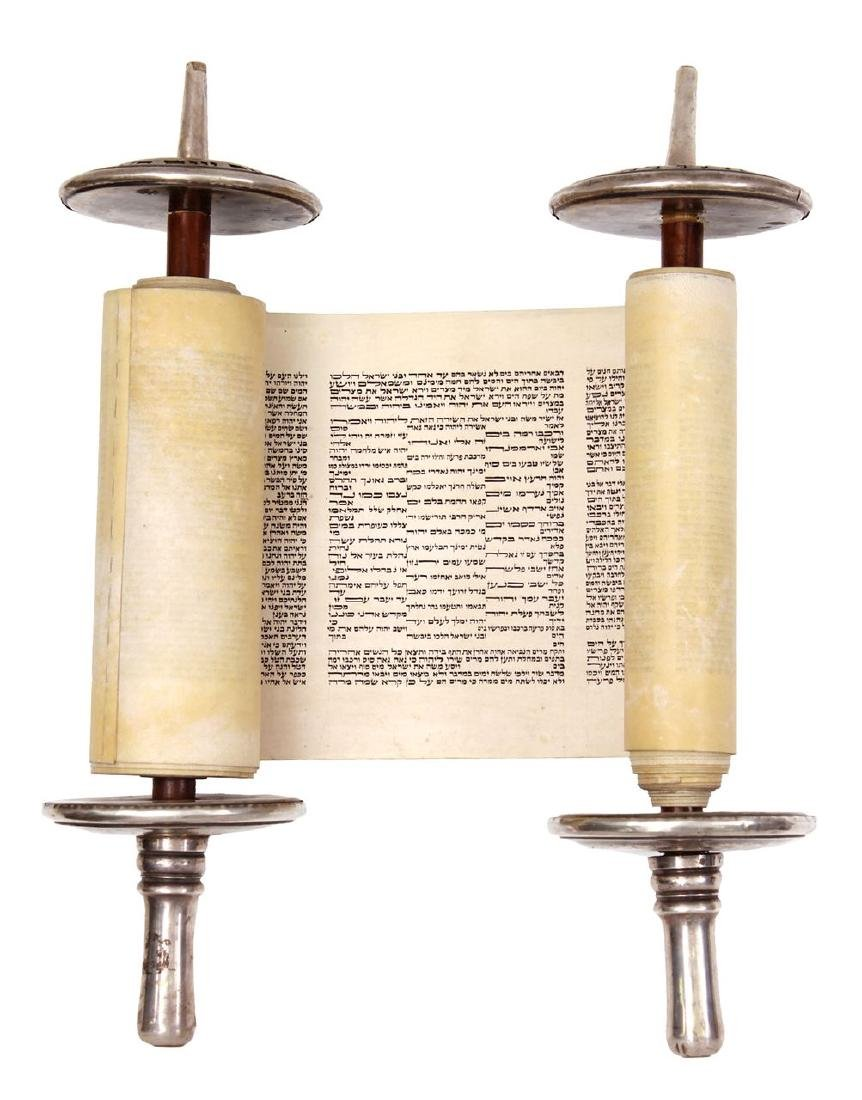 Sefer Torah in a small format, written by hand on