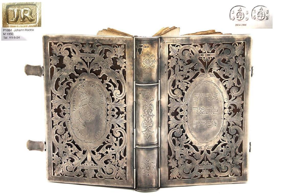 Handsome silver binding. Alt-Wien (Upper Vienna) 1864.