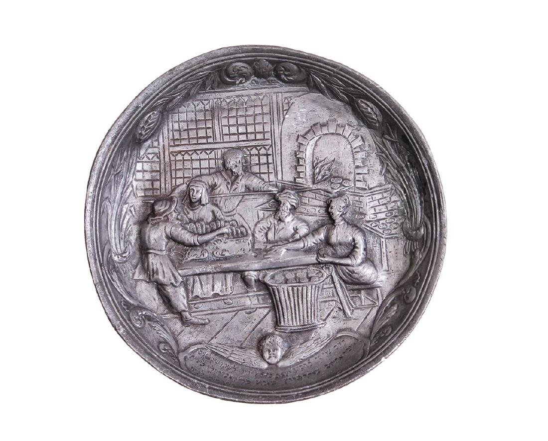 Pewter plate, leilhaseder and the baking of matzah.