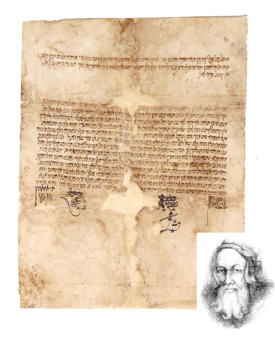 Shadrut letter from the rabbis of Hevron carried by the