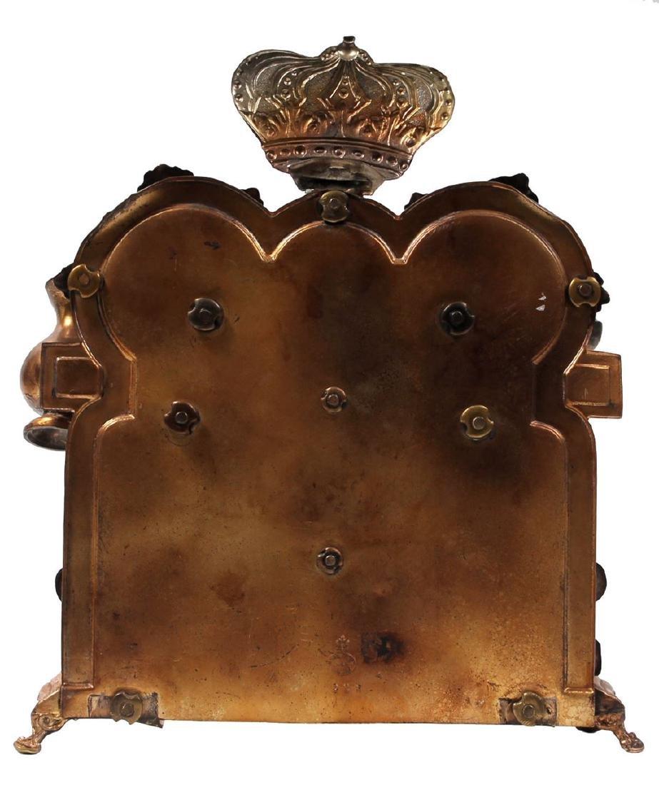 Signed Chanukkiah, Warsaw, 19th century. - 3