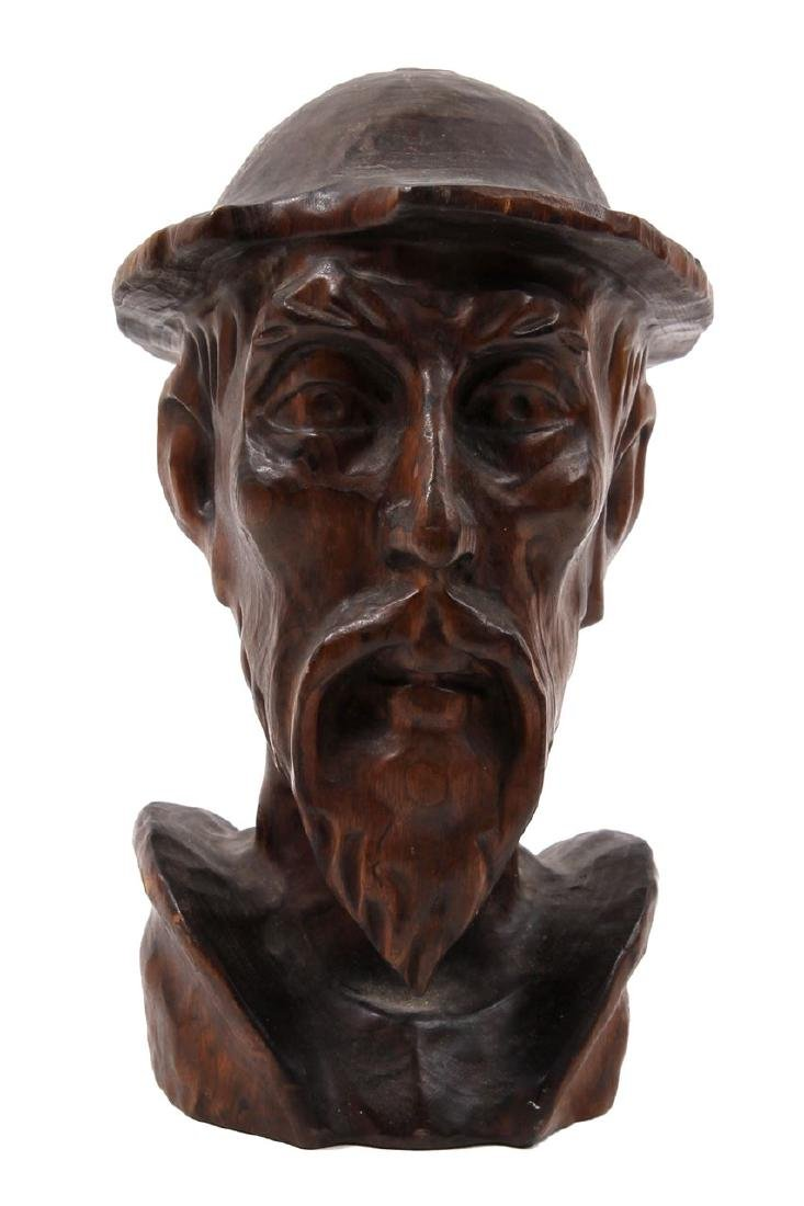 Carved wooden figurine. Figure of a man. Europe, end of