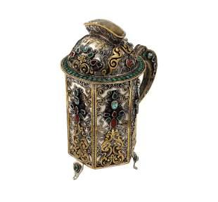 Wonderful museum-worthy item. A handsome tzedakah box