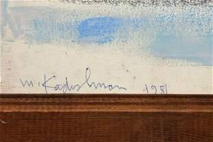 "Oil pastel painting on cloth, ""HaMechalel"""