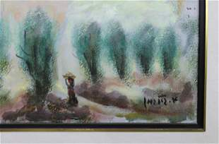 """Oil on canvas, """"The Way to Jerusalem"""", by"""