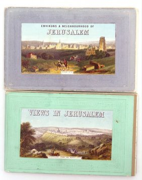 2 Albums With Postcards Of Previous Lithographs.
