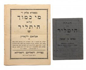 2 Rare Booklets From Morocco, On Saving The Jews Of
