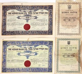 4 Certificates Of Stock Ownership And Bonds