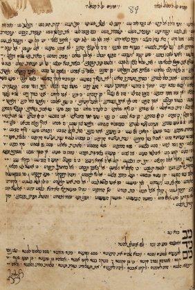 "Manuscript Of ""hakharuzim,"" Morocco 18th Century"