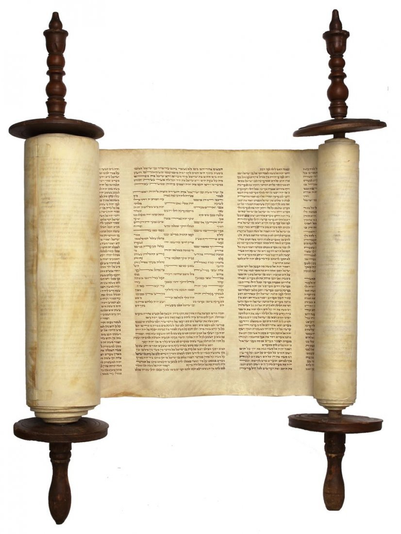 Sefer Torah written by hand on parchment. Europe. 19th