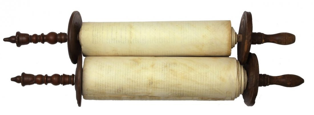 Sefer Torah written by hand on parchment. Europe. 19th - 3