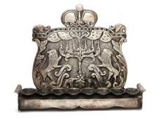 Silver candelabrum Polish style second half of the