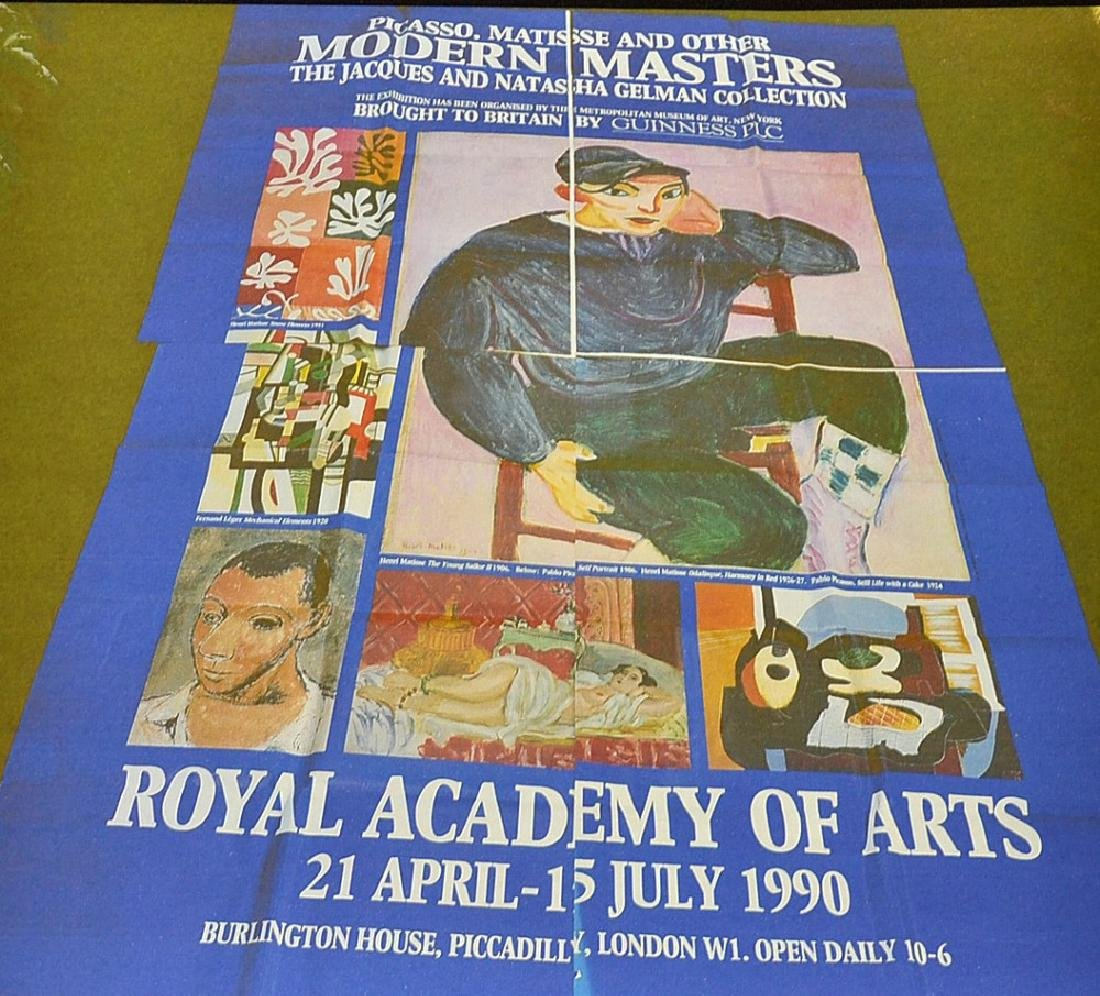 Posters advertising Art Gallery Exhibitions advertising