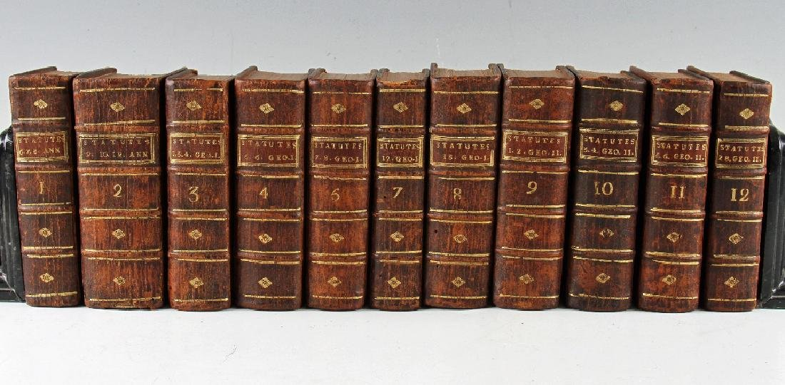 Near Complete Run of Leather Bound Statutes...
