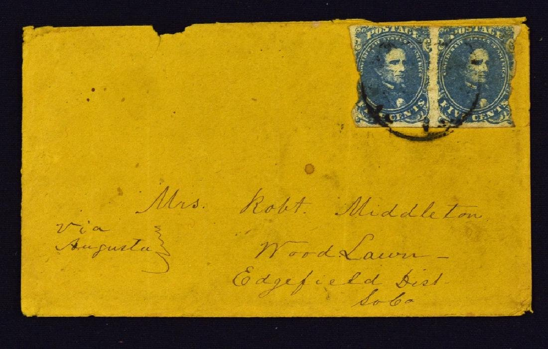 Confederate States - A Scarce Pair Of Early...