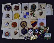 Selection of enamel football badges to include some...