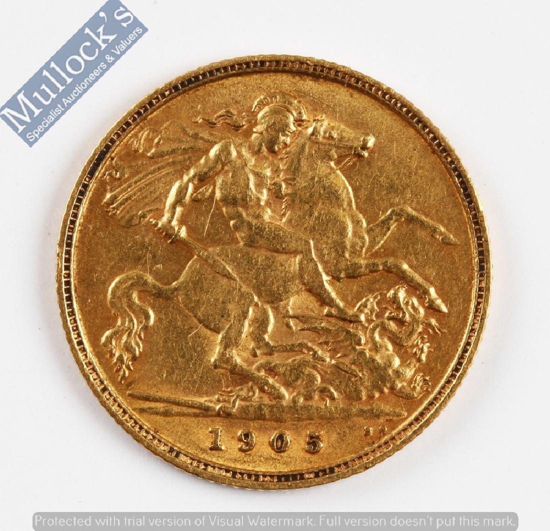 1905 Edward VII Gold Half Sovereign Coin: 22ct...