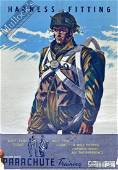 WWII Original Airborne Forces Training Poster: Harness
