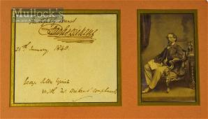 Autograph – Charles Dickens (1812-1870) Signed Letter