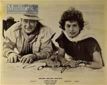 Autographs – John Wayne (1907-1979) and Sophia Loren...