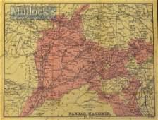 India & Punjab – Map of 'The Panjab...