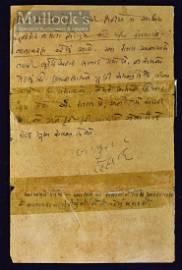 India – MK Gandhi Hand Written Letter to...