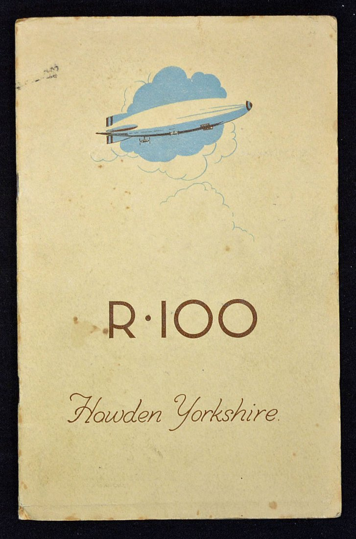 Aviation The Airship R100 c1929-30 Booklet