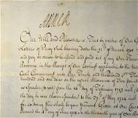 Queen Anne 1665-1714 signed document