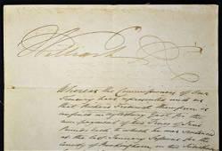 King William IV 1765-837 signed warrant