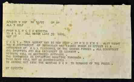 WWII Original End of the War Telegram