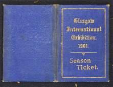 1901 Glasgow International Exhibition Season Ticket