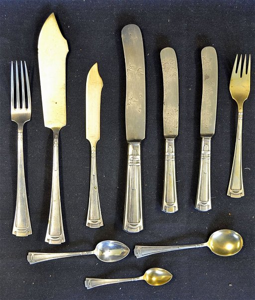 WWII Adolf Hitler and Eva Braun Silver Cutlery