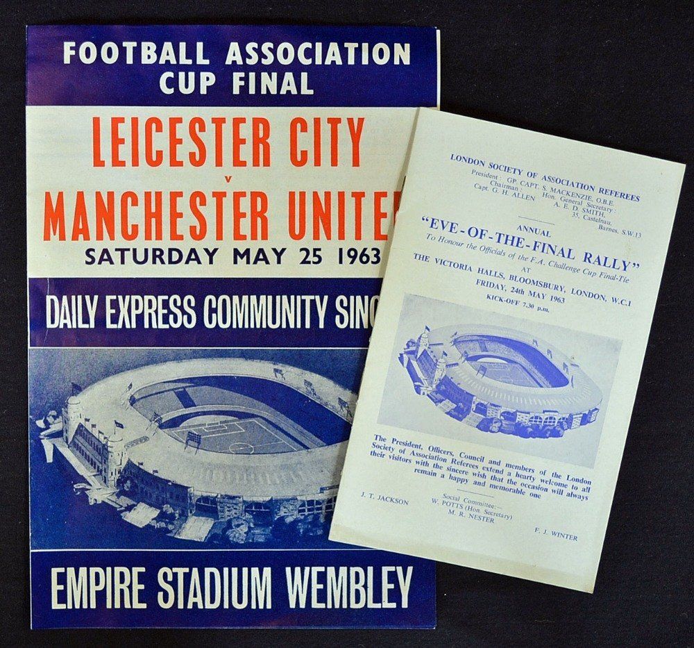1963 FA Cup Final Community Song Sheet and Eve of