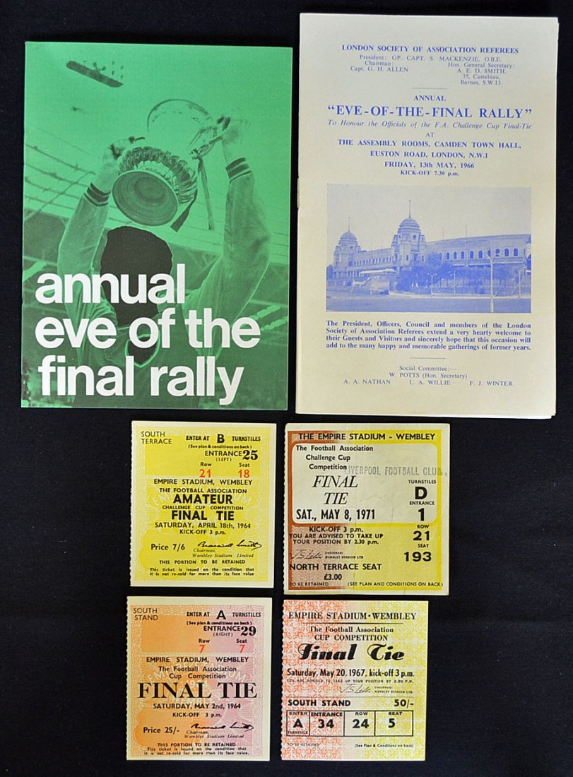 FA Cup Final selection with tickets 1964, 1967, 19
