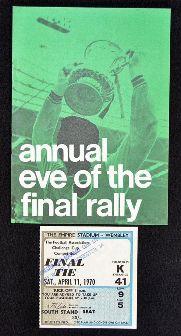 FA Cup Final selection: 1970 Cup Final ticket (ove