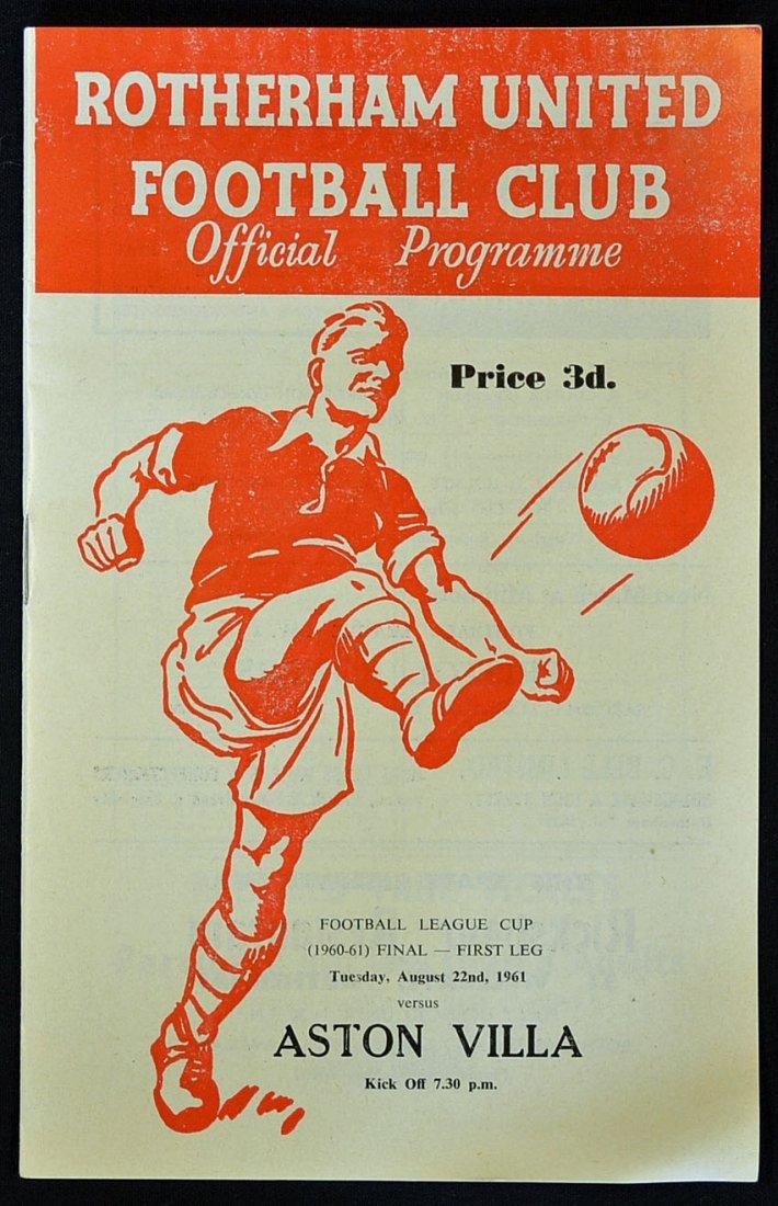1960/61 Football League Cup Final programme, Rothe