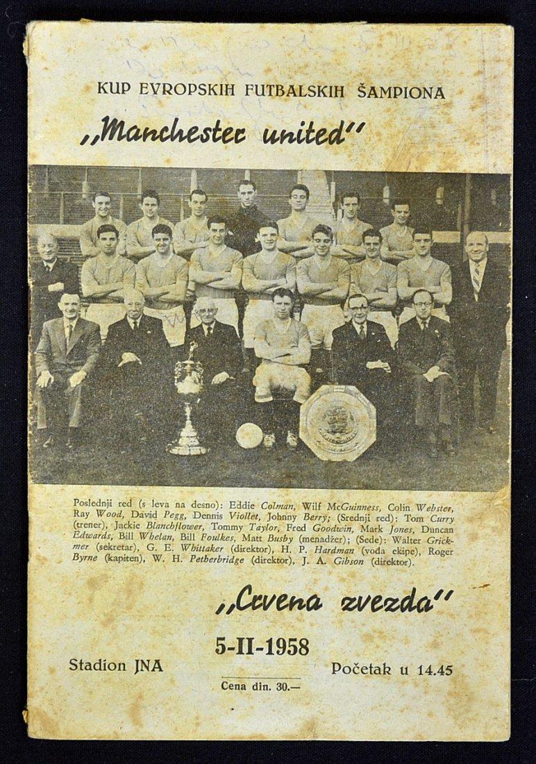 1957/58 Red Star Belgrade v Manchester Utd Europea